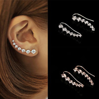 2019 Shiny Crystal Dipper Shape Earrings for Women Rhinestone Small Stud Earrings Party Charm Daily Life Fashion Jewelry Brincos