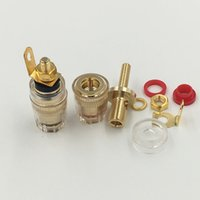 Wholesale socket bind resale online - Freeshipping High Quality Brass Crystal mm Thread Medium Amplifier Speaker Spade Terminal Binding Post Banana Plug Socket Connector