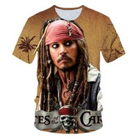 caribbean-t-shirts groihandel-Funny T Shirt Men T -Shirt Movie Pirates Caribbean Jack Sparrow Tshirt 3d Print Tee Unisex Casual Tshirts Camisetas Newest Size S-6XL