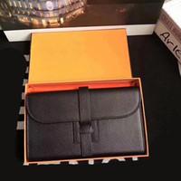 carteiras de mão para mulheres venda por atacado-Designer de bolsa de mão bolsa de couro genuíno Hams mulheres cluth carteira bolsas com caixa lichia padrão carteiras de couro real