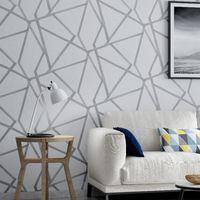 moderner tapetenverkauf groihandel-Parede Papel De Sale Zusammenfassung geometrische Hintergrund Moderne Holzfaser Für 3D-Wand non-woven Tapete in Rollen für Wohnzimmer Wohnkultur