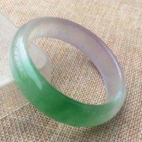 vereisten lavendel großhandel-60mm Lavendel grünes Eis Jadeit Jade Armreif Handgefertigt
