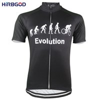 Wholesale cycling men summer clothing resale online - HIRBGOD Evolution High Quality Breathable Men Cycling jersey Colors Summer Short Sleeve Bicycle Clothes NR178