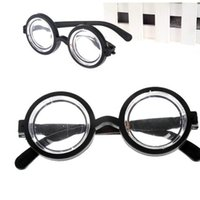 Wholesale plastic clowns resale online - Child Boy Girl Eyewear Clown Perform Spectacles Plastic Round Frame Glasses Party Decorate Small And Exquisite MMA1913