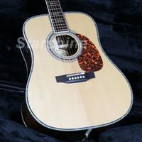 tapa de abeto de guitarra de palisandro al por mayor-JEAN6019 6 cuerdas D Style 45E Guitarra acústica eléctrica Fishman EQ Solid Spruce Top Grover TunerN