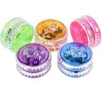 erwachsene spielzeug glühen großhandel-Glowing Jo-Jo Puzzle Kinderspielzeug Fabrik Leuchten Finger Spinning Spielzeug für Kinder Erwachsene Neuheit Spiele Geschenke Großhandel