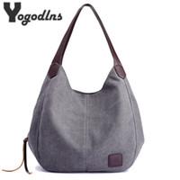 Wholesale cute style handbags for sale - Group buy Yogodlns Hot Fashion Women s Handbag Cute Girl Tote Bag Leisure Bag Lady Canvas Bag Modern Handbag Y19051502