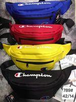 bel çantaları renkleri toptan satış-Toptan Göğüs Çanta Yüksek Kalite Oxford Eğlence Omuz Çantaları Fanny Paketi Kadın Kızlar için Mektup Bel Çantası Paketleri 4 Renkler Ücretsiz nakliye