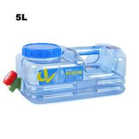 ingrosso nuovi barili di plastica-Nuovo 5L PC Mounchain all'aperto addensare sacchetto di acqua di plastica serbatoio portatile tote secchio portante d'acqua con rubinetto barile PE