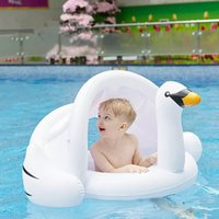 Wholesale inflatable infant swim ring resale online - Safe Inflatable Swan Baby Swimming Ring Pool Baby Infant Swimming Float Adjustable Sunshade Seat Pool Brinquedos