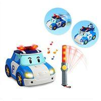 Wholesale remote police cars for sale - Group buy Silverlit Deform Poli RC Car Boy Smart Follow Shiny Cartoon Car Electric Remote Control Police Car T