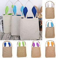 Wholesale bunny shoulder bag for sale - Group buy Easter Rabbit Ears Bag Handbag Cartoon Bunny Bucket Shoulder Canvas Bag Shopping Bags Party Gift Wrap Storage Bags color WX9