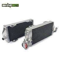 enfriadores de agua de enfriamiento al por mayor-BIKINGBOY MX aluminio Core agua refrigerante del motor Coolers Radiadores fija para GAS GAS EC 125 2007 2008 2009 2010 2011 2012 07-12
