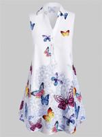 blusa sin mangas con estampado animal xl al por mayor-Blusa sin mangas con estampado de mariposa con estampado de mariposa de Zada Plus - 3x