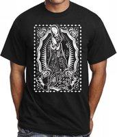 ingrosso uomini di camicia bandana-T-shirt girocollo a maniche lunghe da uomo Sconto T-shirt da uomo Guadalupe T-shirt da uomo a maniche corte