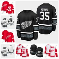 ingrosso maglie pullover nere in bianco nero di hockey-Maglia da uomo economica Jimmy Howard 2019 All Star Detroit Red Wings Hockey Jersey bianca RED BLACK WHITE HOME AWAy