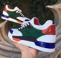 zapatillas directas de fábrica al por mayor-Fábrica directa de zapatos casuales calientes Aurelien Sneakers Flat Women, Men Red Bottom Shoes Perfect Quality Casual Trainer Outdoor Gift Perfect 11