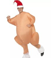 mascote de galinha adultos venda por atacado-Peru Assado Inflável Costume Halloween Frango Para Adultos Inflável Do Natal Do Vestido Extravagante Traje Da Mascote Roupas Frete Grátis