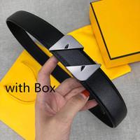 cinturones de marca de diseñador para hombre al por mayor-Cinturones Cinturones de diseño de lujo casual para mujer para hombre marca de la correa con hebilla lisa Monster novedad Ancho de banda de 34 mm de alta calidad con la caja
