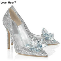 Wholesale sexy rhinestone open toed shoes for sale - Group buy 2019 Fashion Sexy Women Silver Rhinestone Wedding Shoes Platform Pumps Crystal High Heels Shoes For Evening Party