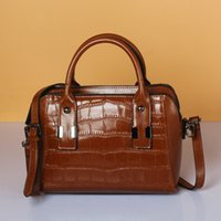 Wholesale gift bag extra resale online - Elegant2019 Cowhide Leather Genuine Boston Single Shoulder Span Handbag Crocodile Grain Leisure Time Women s Gift Package