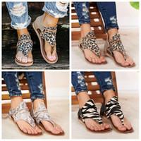 Wholesale leopard print flat shoes for sale - Group buy Women Sandals Leopard snakeskin Print Summer Shoes Women Plus Size Flat With Shoes Women Sandals Summer Shoes LJJA3837