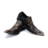Wholesale comfort career shoes for sale - Mens Fashion Dot printing Party Shoes Slip On Comfort Genuine Leatherpointet toe Formal Dress gold toe oxford