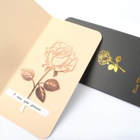 Wholesale cute greetings card for sale - Group buy Metal Rose Flower Bookmarks Greeting Cards Ideal Cute Christmas Gift to Lover Friends Classmates Kids