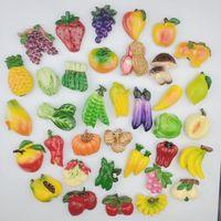 Wholesale fruit magnets resale online - 3d Fruit Vegetable Fridge Magnet Creative Cartoon Refrigerator Magnets Stickers Office Boardsholder Stickers Strong Magnet Y19061901