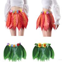 FOGLIA VERDE LEI Tropicale Hawaii Spiaggia Hawaiana Costume Cosplay
