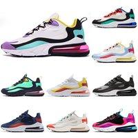 ingrosso nuova badminton-Nike air max react 270 New designer Scarpe da corsa per uomo donna nero bianco uomo scarpe da ginnastica sportive sneakers traspirante Atletico casual taglia 40-46