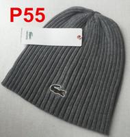 sombreros de lana de buena calidad al por mayor-Hot Good Quality European High-end Brands Otoño Invierno Unisex gorro de lana moda casual Carta sombreros para hombres mujeres Cocodrilo gorra de diseñador