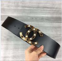 cinturones de lona de marca para hombres al por mayor-2019 nuevos 7 cm. Size95 --115cm uxury diseñador lienzo cinturón marca de moda correa de PU cinturones para hombre para mujer Jeans mans pretina