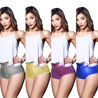 Wholesale hot pink yoga pants resale online - European American Sexy Ladie shorts Club Party Women Pant Casual Sports Running Yoga Hot Pants LLA356