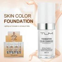 длинный ношение макияжа оптовых-TLM 30 мл безупречный цвет меняется жидкая основа долго носить макияж изменить тон кожи путем смешивания