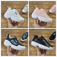 Wholesale ii rubber shoes resale online - 02new Baby Kids Original Casual Shoes White Pink Boys Girls II Children FILE special section sports sneaker increased running shoes