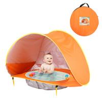 château de balle achat en gros de-Tente de bébé enfants en plein air tentes de plage parasol balle piscine maison de jouet preuve ultraviolette Château abris tente de piscine pliable GGA2351