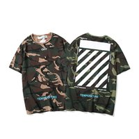 ingrosso zebre attraversa-Designer mens tshirt OFF shirt BIANCO marca magliette estate vendita calda camouflage zebra crossing t-shirt stampa ricamo t-shirt uomo tees