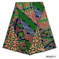 cera de tela africana al por mayor-Verdadera cera hollandais garantizada ceras holandesas reales tela africana tela de estampados de cera africana 6 yardas / pieza