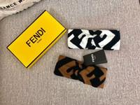 marka f toptan satış-Yeni Tasarımcı F Kadınlar Kış Sıcak Yün çapraz Bandı Marka Kız Elastik Retro Türban Headwraps Hediyeler