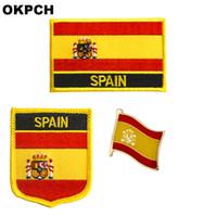 Wholesale spain clothing resale online - Spain flag patch badge a Set Patches for Clothing DIY Decoration PT0190