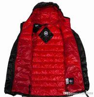 saten ceket erkek toptan satış-Ücretsiz kargo Kanada 19 yeni erkek moda sıcak kaz tüyü ceket gevşek ceket satın almak hoş geldiniz