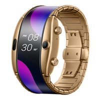 Wholesale 1gb rom android cell phones resale online - Original Nubia Alpha Smart Cell Phone Watch quot Foldable Flexible Screen Snapdragon Wear Quad Core GB RAM GB ROM MP Wristwatch