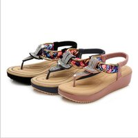 cc8e1acfe6b7ba leather bohemian sandals UK - New fashion women sandals Flat bottom comfort  ethnic wind sandals women