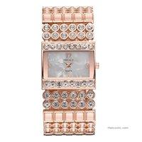 часы наручные оптовых-Горячие женские нержавеющей стали кварцевые часы горный хрусталь кристалл аналоговые наручные часы Relogio Masculino Uhren Relojes