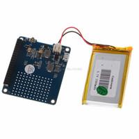 ingrosso modulo di litio-Freeshipping UPS HAT Board Module 2500 mAh batteria al litio per Raspberry Pi 3 Modello B / Pi 2B / B + / A +