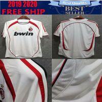 Wholesale customized soccer jersey name resale online - 2006 retro ac milan soccer jersey Retro CL KAKA Maldini Inzaghi Pirlo Nesta shirt Customize name
