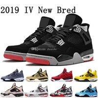 basketball 4s großhandel-2019 New Bred FIBA 4 4s IV Was The Cactus Jack Laser Wings Herren Basketball Schuhe Denim Blau Eminem Pale Citron Herren Sport Designer Sneaker