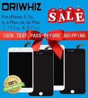 iphone 5 lcd screen оптовых-ORIWHIZ Сменный экран для iPhone 5 5s 6 6 Plus 6s 6s Plus 7 8 ЖК-экран дигитайзера в сборе Высокая яркость Черный Белый