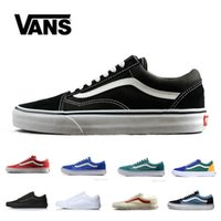 VANS Old Skool Black White Skateboard Classic Canvas Casual Skate Shoes  zapatillas de deporte Womens Mens Vans Sneakers Trainers 5-10 e17cd2a0c